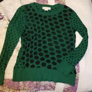 Michael Kors Long Sleeve Knit Sweater Black Spots